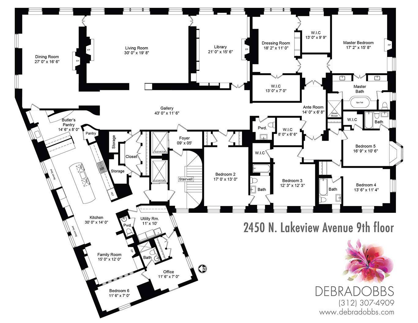 2450 N Lakeview Presented By Debra Dobbs Lake View Manor House Floor Plans