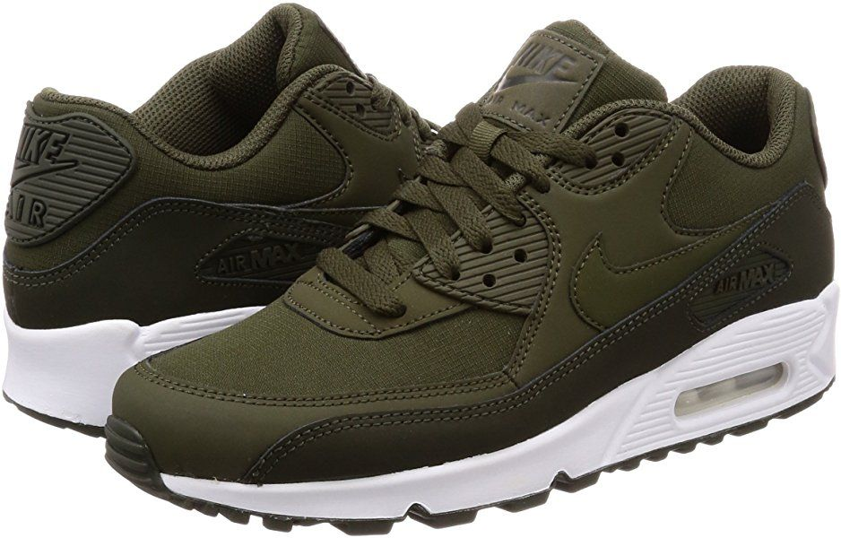size 40 d2c46 f2e35 Nike Air Max 90 Essential, Baskets Mode Homme, Vert (Sequoia Cargo Khaki