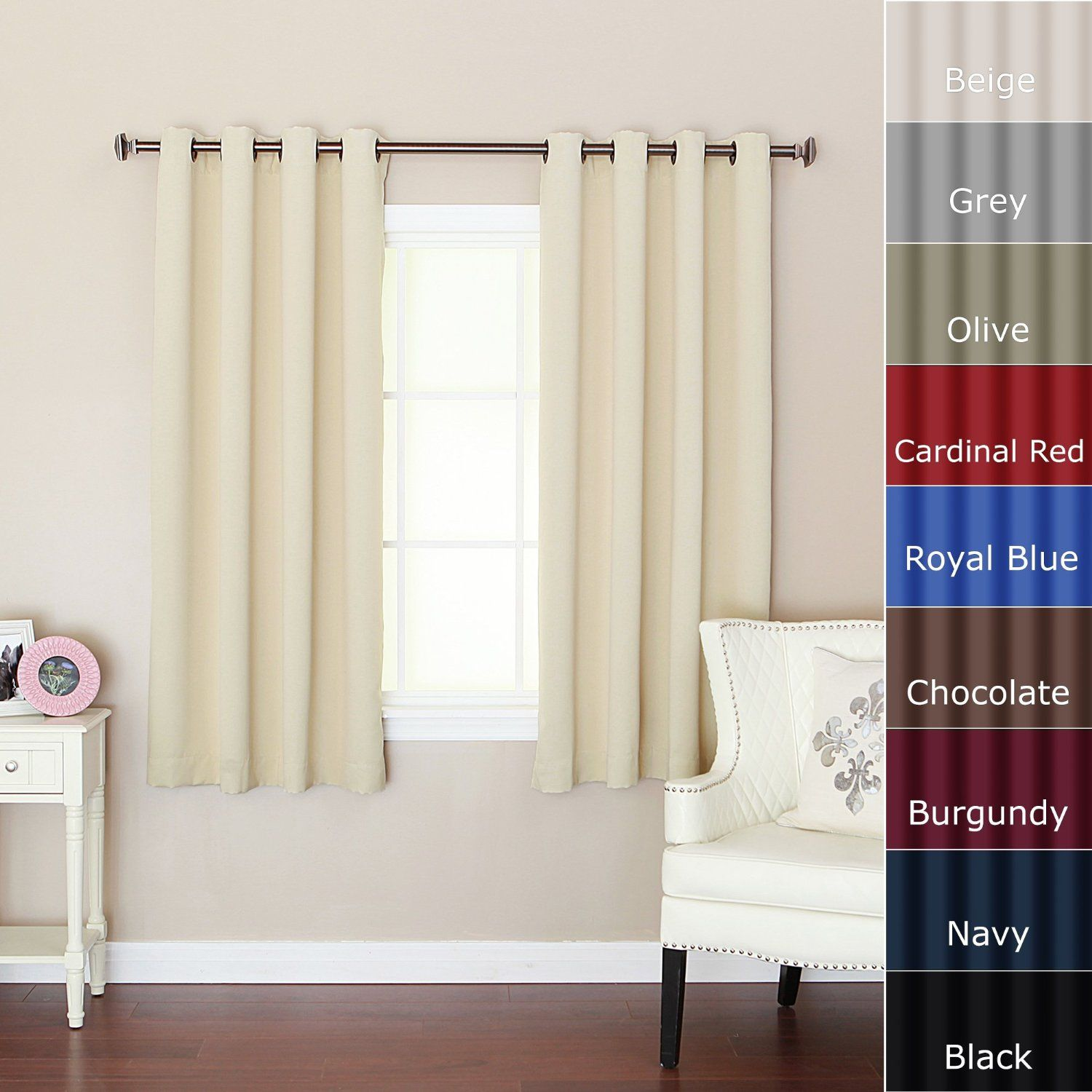 shade window curtains blackout x insulated l curtain rod w bathroom com platinum up amazon for thermal small panel nicetown tie pocket