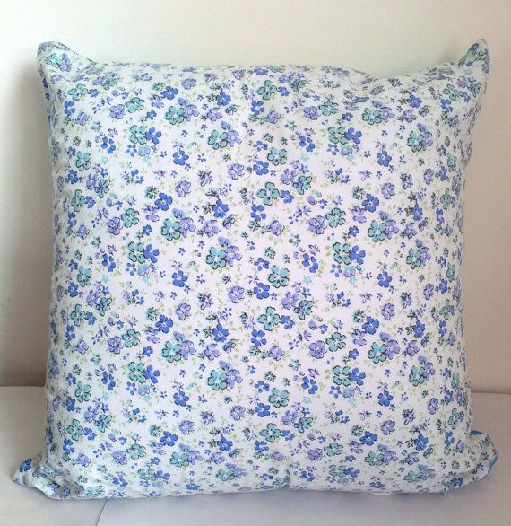 Handmade 18 Inch Square Blue/Turquoise Cotton by GoodGirlDesigns, £12.95
