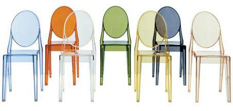 Sedie Victoria Ghost di Philippe Starck per Kartell   Casa   Home ...