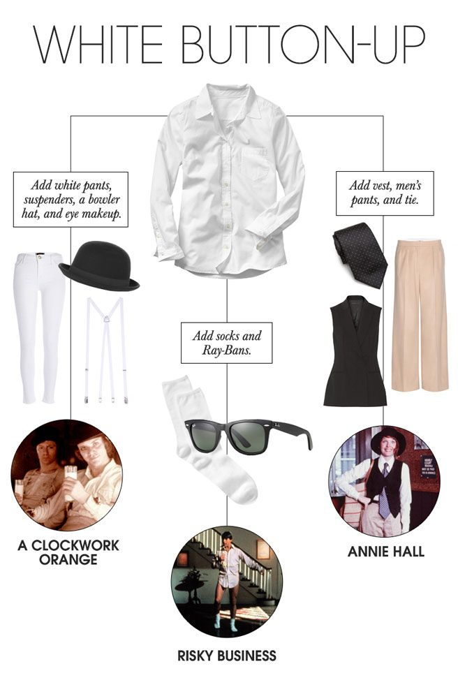 6 Instant Halloween Costumes You Can Make From Your Closet Casual Halloween Costumes Last Minute Halloween Costumes Halloween Costumes For Girls