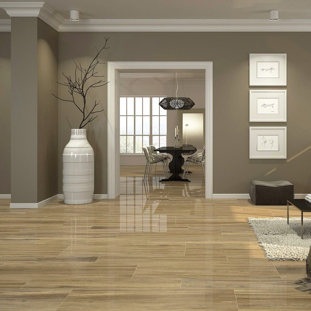 Crown tiles 120x20 hilton pine wood effect tiles wood effect hilton pine is a stunning gloss wood effect floor tile that is also available in various other colours view the range online now doublecrazyfo Image collections