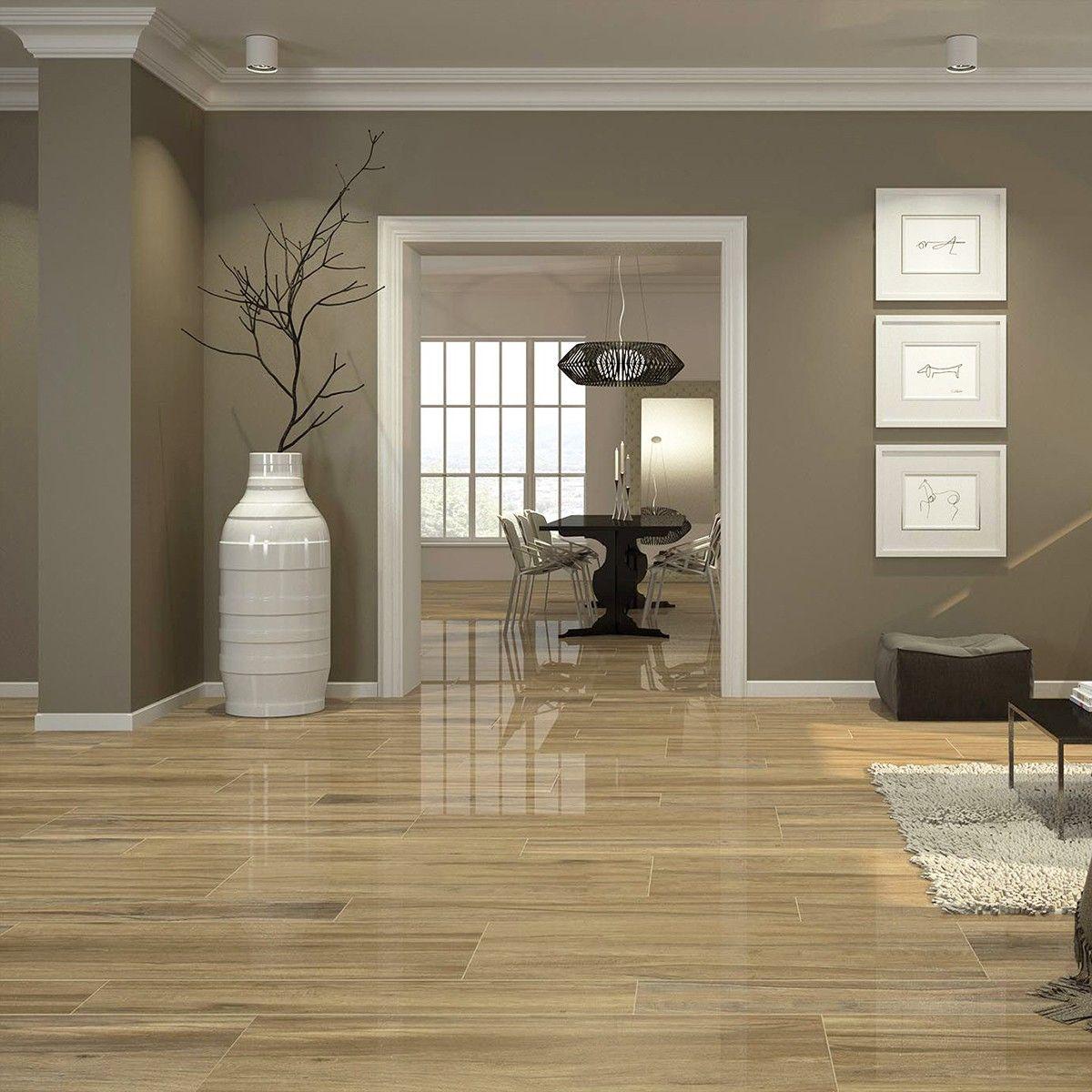 Hilton Pine Porcelain Floor Tiles in 2020 Brown living