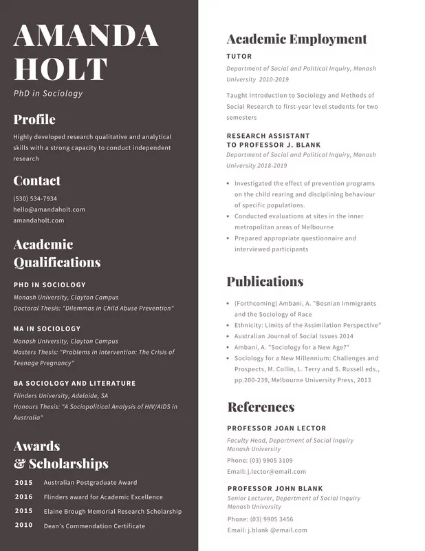 Templates in 2020 (With images) Resume, Simple resume