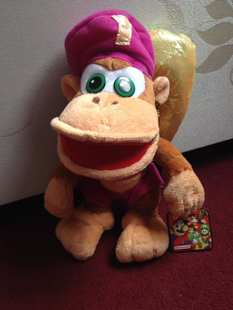 Donkey Kongs Dixie Plush 2002 Play By Play Official Nintendo Very