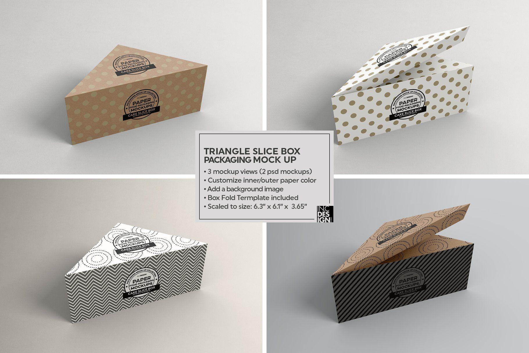 Download Cake Slice Box Packaging Mockup Bottle Design Packaging Cake Slice Boxes Cake Slice Packaging