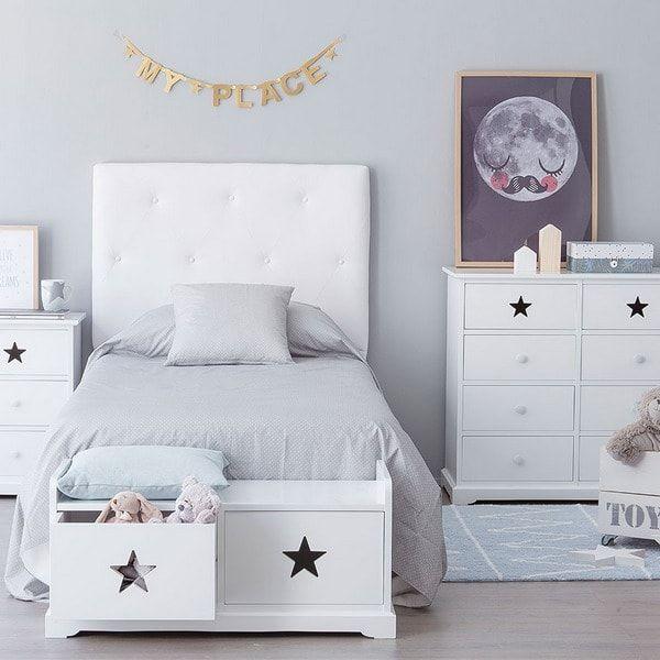 Mueble de almacenaje a los pies de la cama | Bebes | Pinterest ...