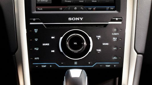 Audio system from Sony® with 12 speakers and HD Radio