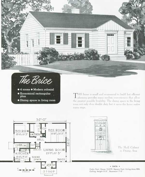 1949 National Homes: The Brice | VinTagE HOUSE PlanS~1940s ...