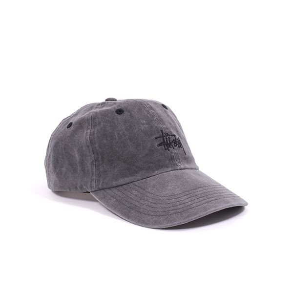 3d1fe88ba35 Stussy Stock Washed 6-Panel Cap - Classic curved brim unstructured 6-panel  cap from Stussy. It has undergone a special enzyme wash process to make it  look ...