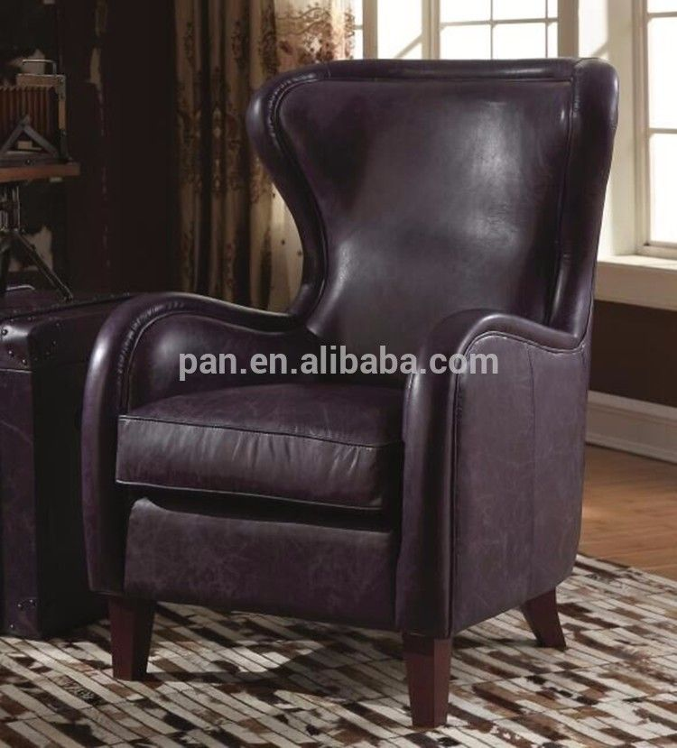 Modern High Back Leather Recliner Wingback Club Chair