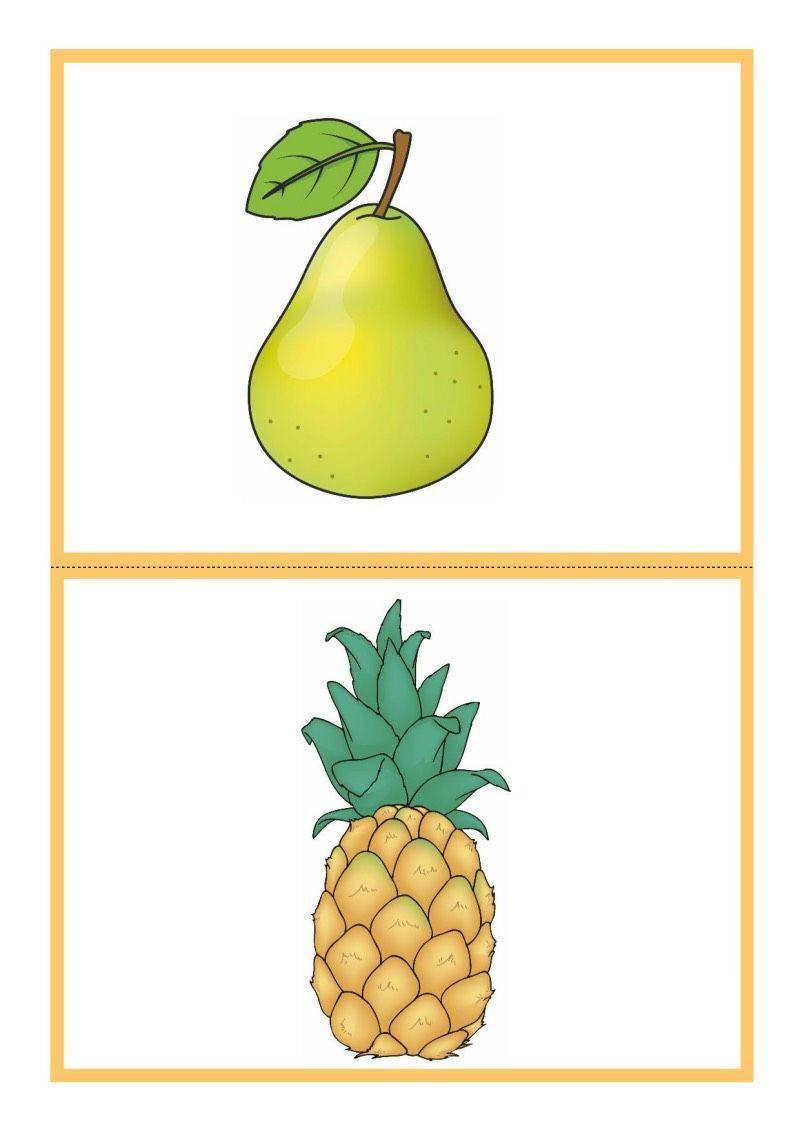 Tablice Edukacyjne Owoce Do Druku 14 Fruit Food Preschool