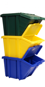 stackable recycling bins we could put some of these in the laundry