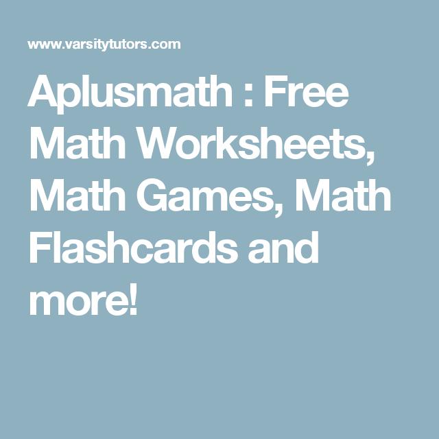 Aplusmath : Free Math Worksheets, Math Games, Math Flashcards and ...