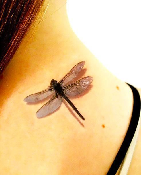 3d Dragonfly On Back Tattoo Idea Tatoo Tattoos Dragonfly Tattoo