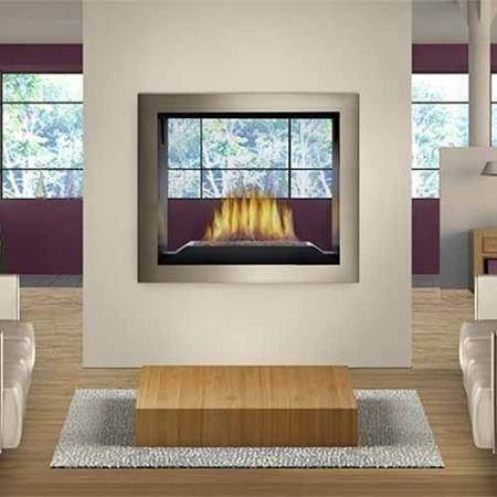 two sided fireplace insert - Google Search Canyon River Terrace