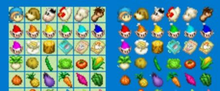 Harvest moon more/friends of mineral town sprite icons for