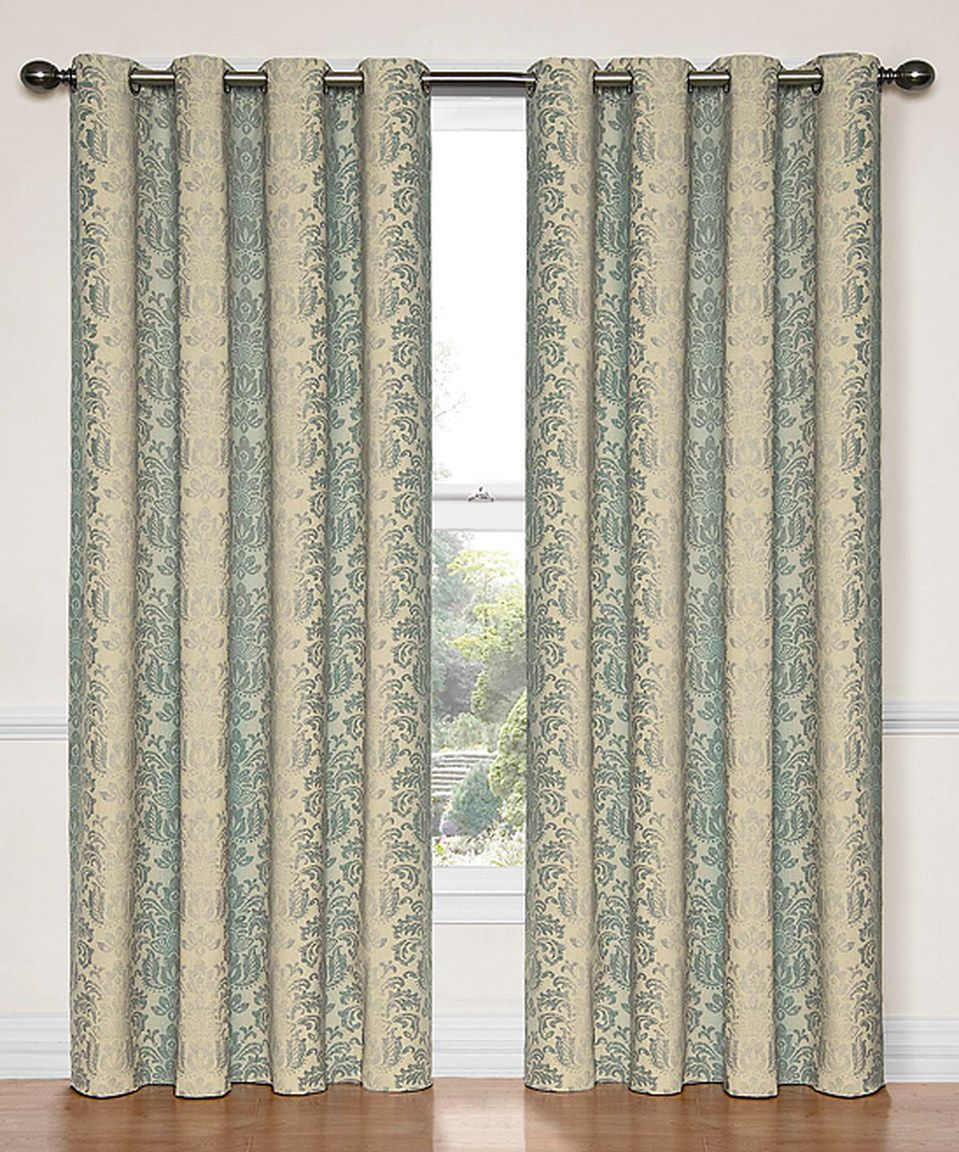 Smokey Blue Nadya Blackout Window Curtain Panel By Ellery