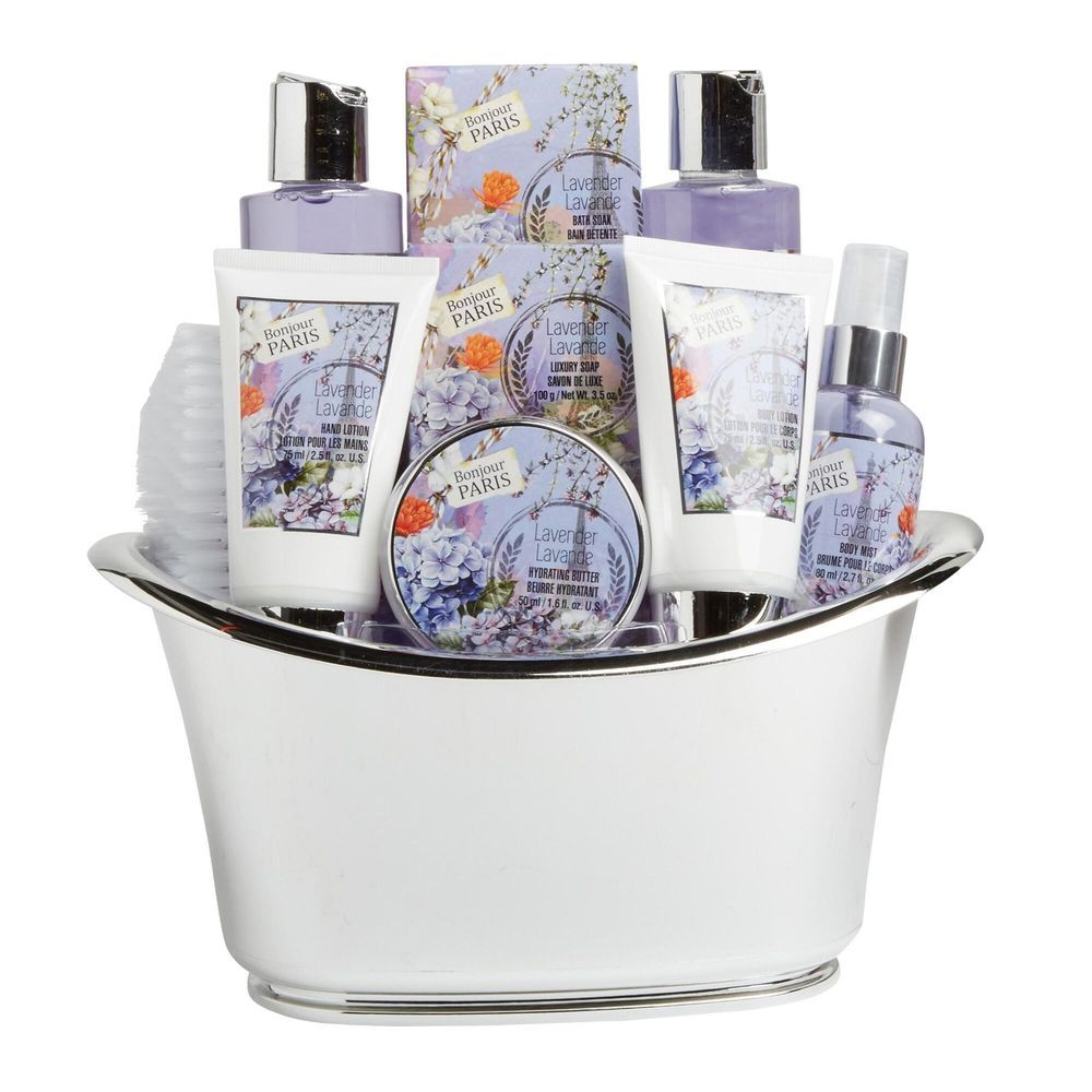 Exclusive Set Of 10 Piece Lavender Scented Bath And Body Home Spa ...