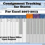 Inventory And Sales Consignment Tracking For Stores Track Consignments Excel Template Consignment Sale Consignment Consignment Shops