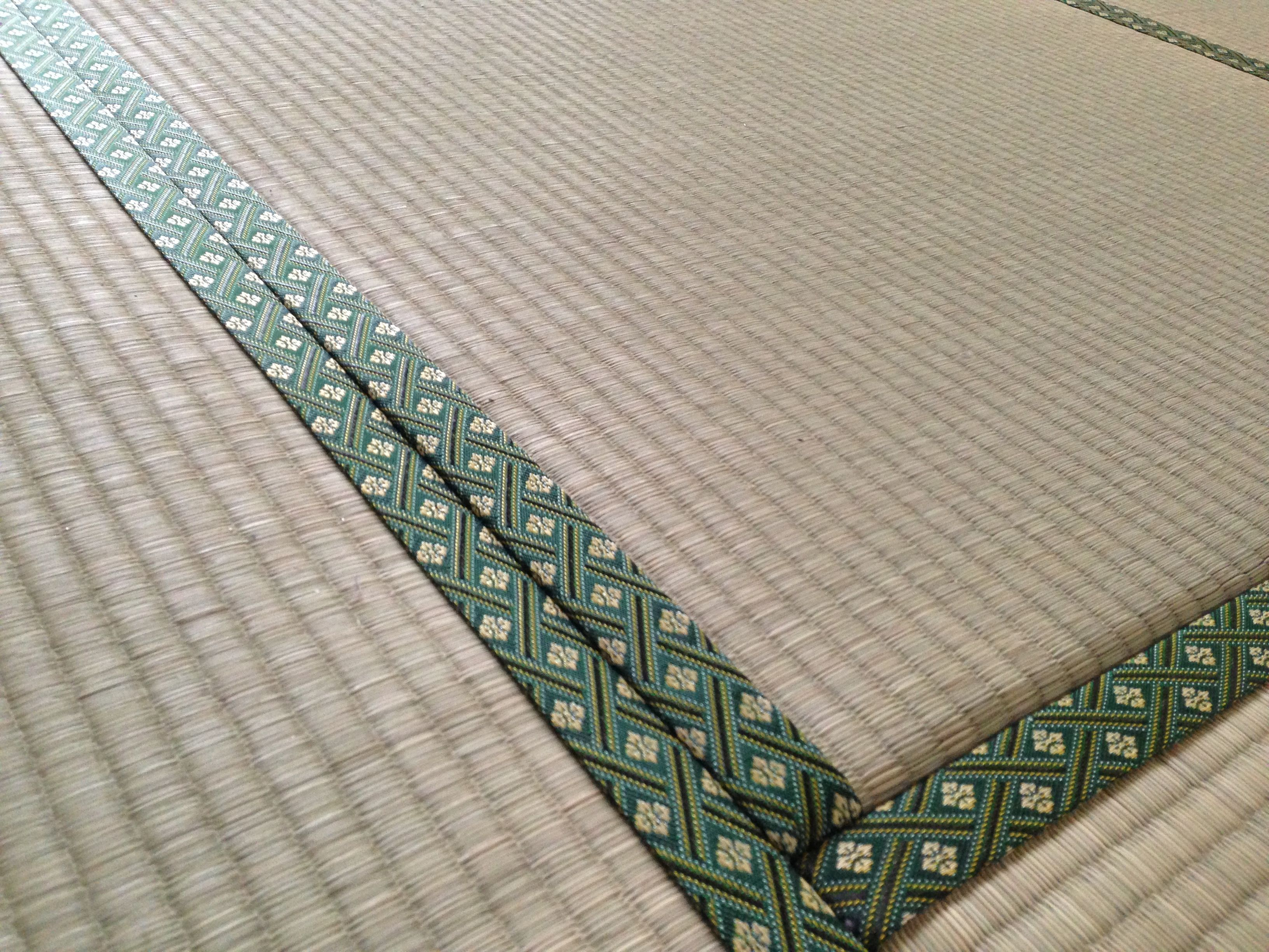 This is a close up of the tatami mats in our traditional