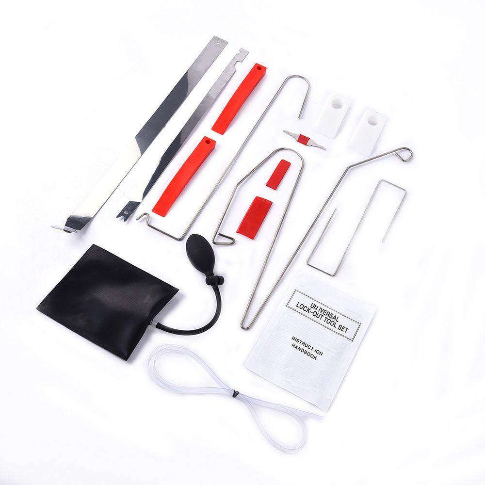 Air Pump+Wedge Emergency Opening Unlock Tools Kit 12Pcs Car Door Key Lock Out