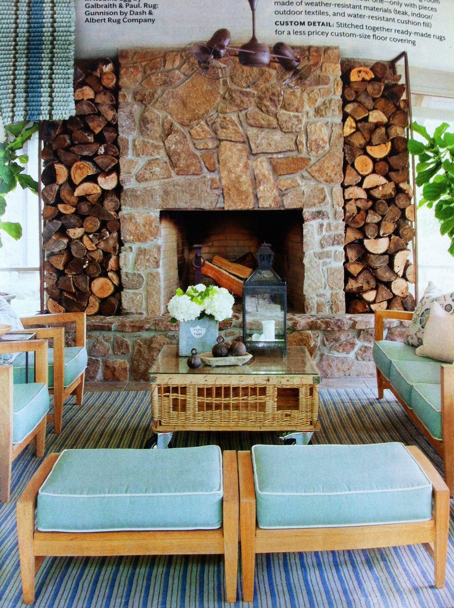 beautiful fireplace southern living magazine  outdoor