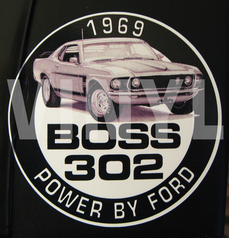 Vintage 1969 Mustang Boss 302 Vinyl Sticker Decal 4 Power By Ford