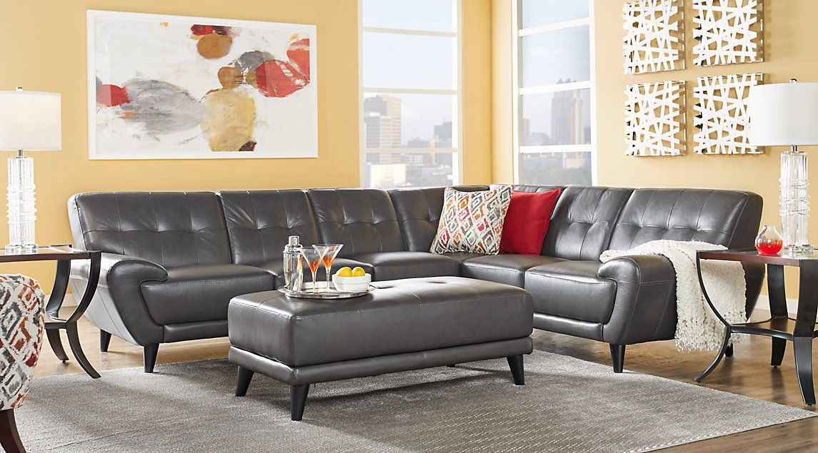 grey leather living room set and bedroom paint ideas affordable sets rooms to go furniture