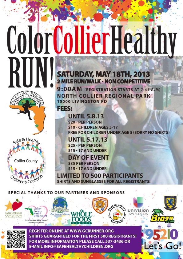 HealthyColorRun to benefit Safe & Healthy Children's