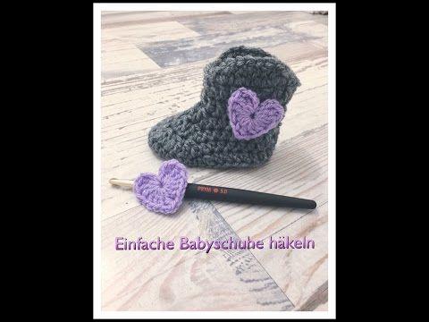 GANZ EINFACHE Babysocken häkeln super für Anfänger geeignet ...