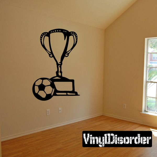 Soccer Trophy Wall Decal