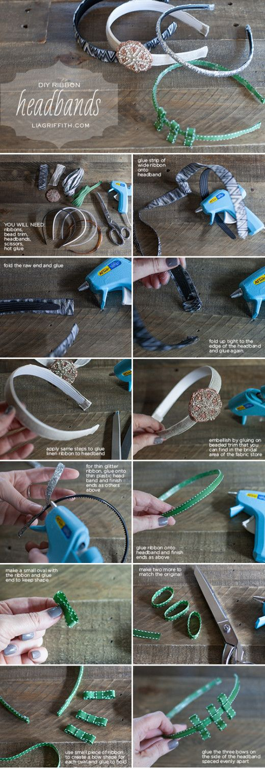 DIY Ribbon Headbands from Lia Griffith