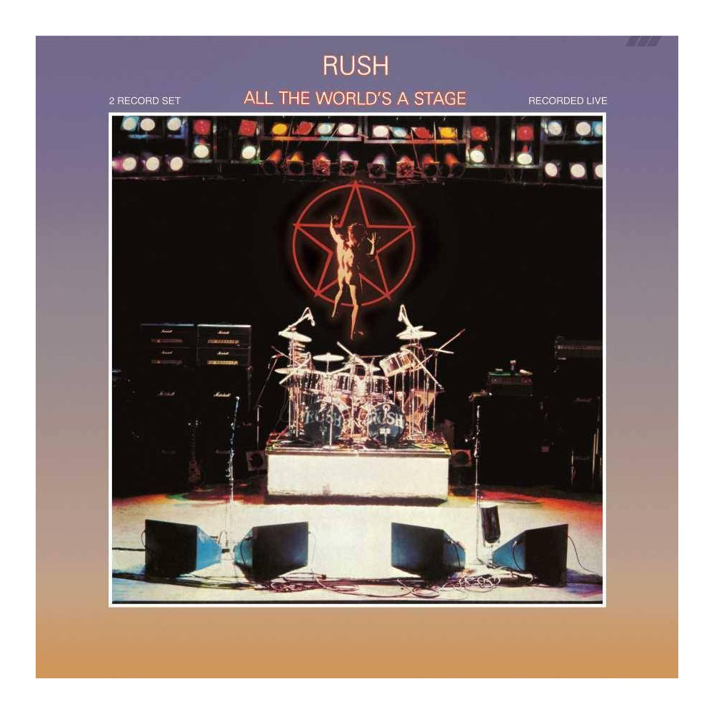 Rush All The World S A Stage Vinyl Rush Albums Rush Band Album Covers
