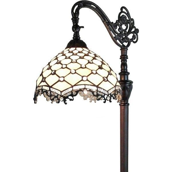 Amora Lighting AM122FL12 Tiffany Style Jeweled Reading Floor Lamp ...