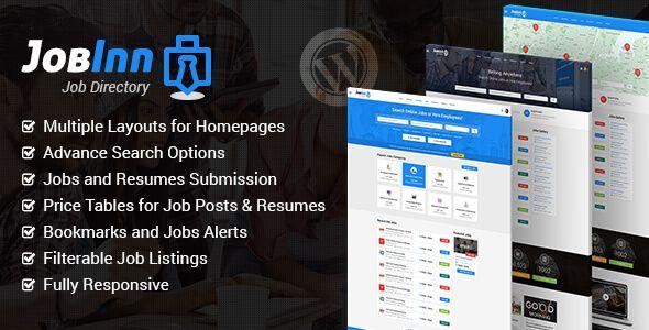 JobInn - Job Board \ Directory WordPress Theme Wordpress - wordpress resume themes