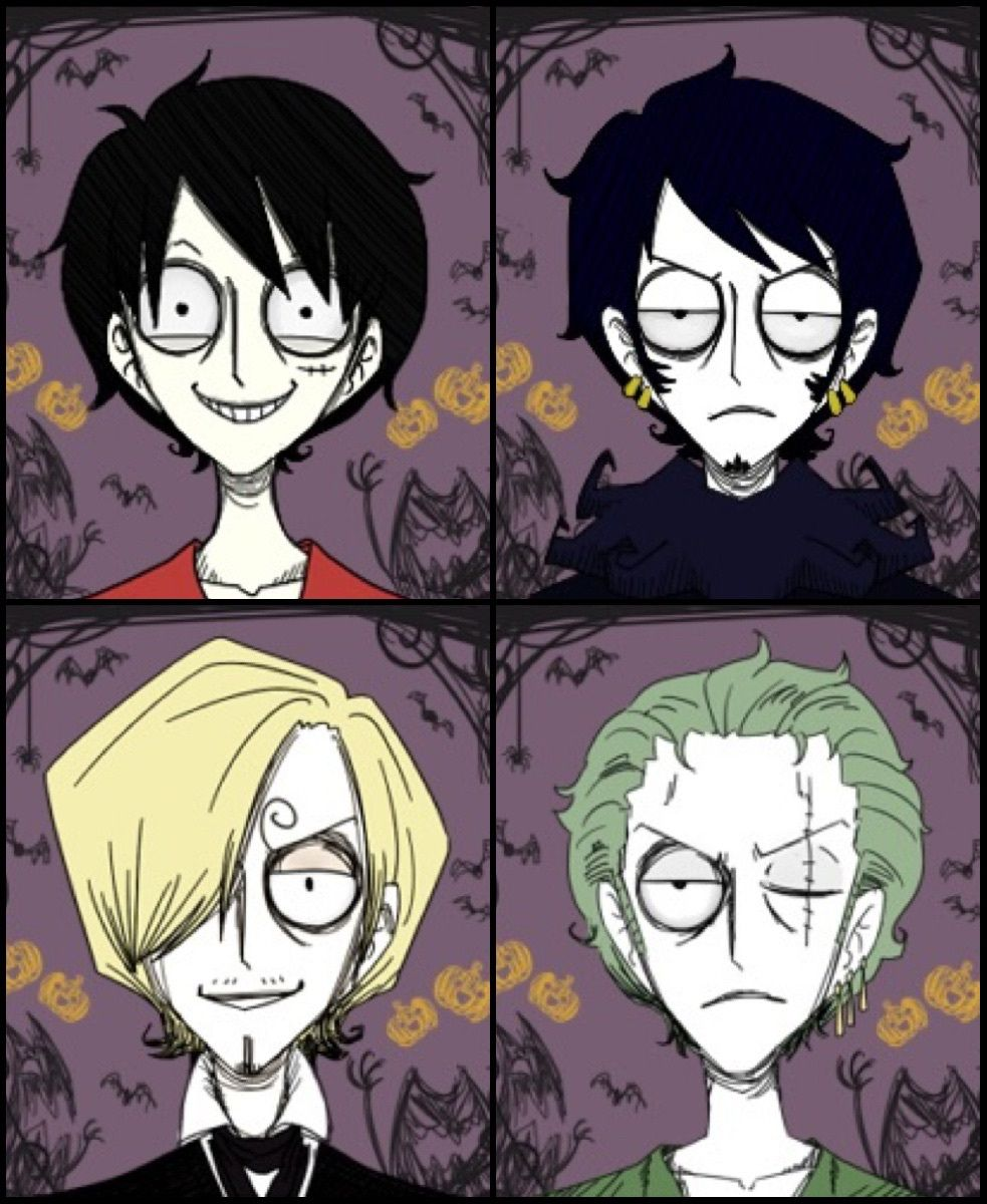 The mystery is finally solved. I guess I love Law because he already looks like he's a Tim Burton character. Plus, he's sassy. (ティム・バートンStyle)