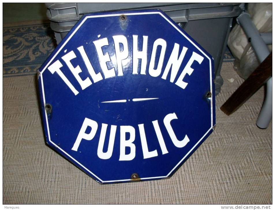 Plaque emaillee telephone public plaque maill e for Plaque emaillee ancienne cuisine