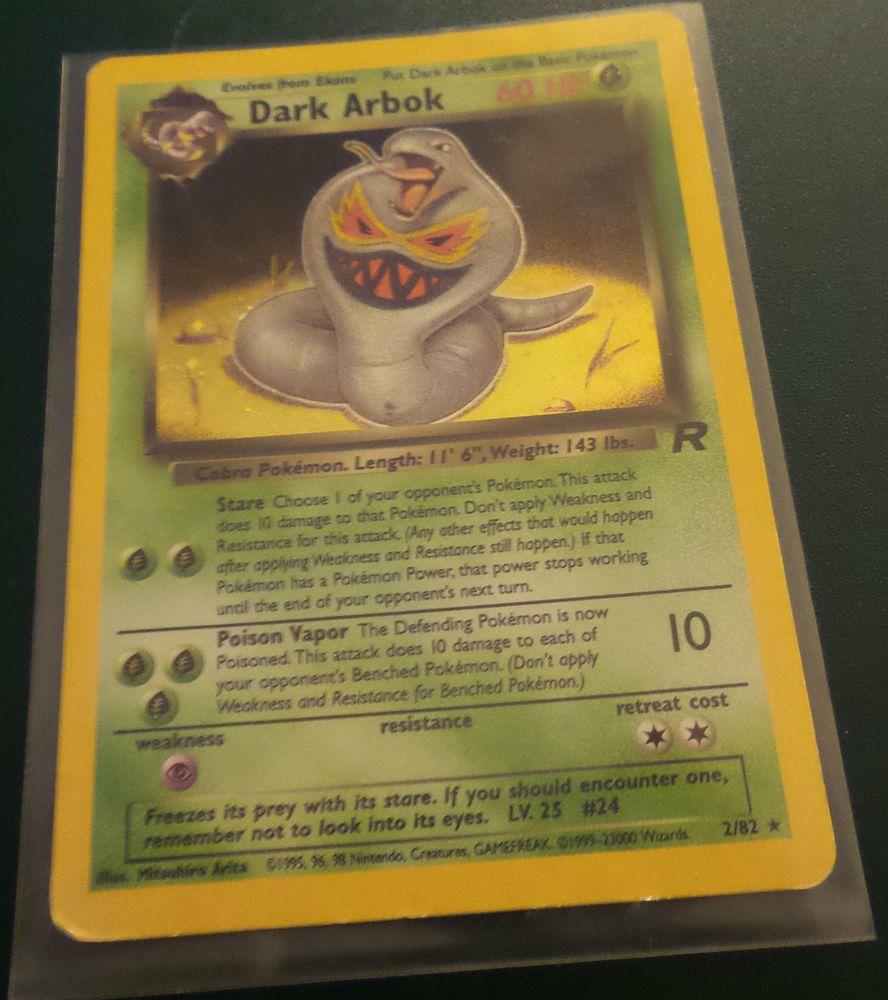 Details about dark arbok 282 pokemon card rare team