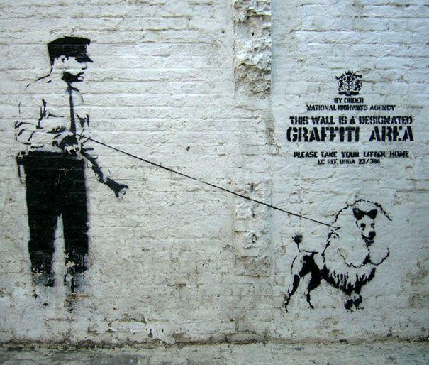 Banksy Propaganda Cannon Wall Decals
