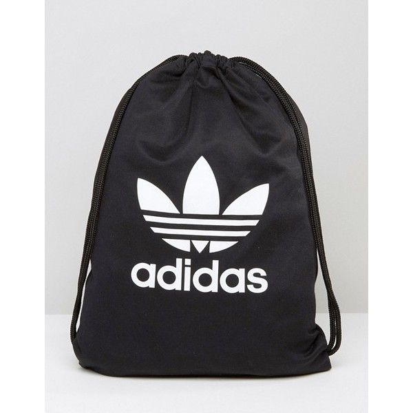 c110d629081b adidas Originals Drawstring Backpack With Trefoil Logo ( 26) ❤ liked on  Polyvore featuring bags