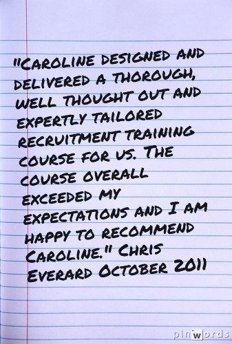 Bespoke recruitment training course
