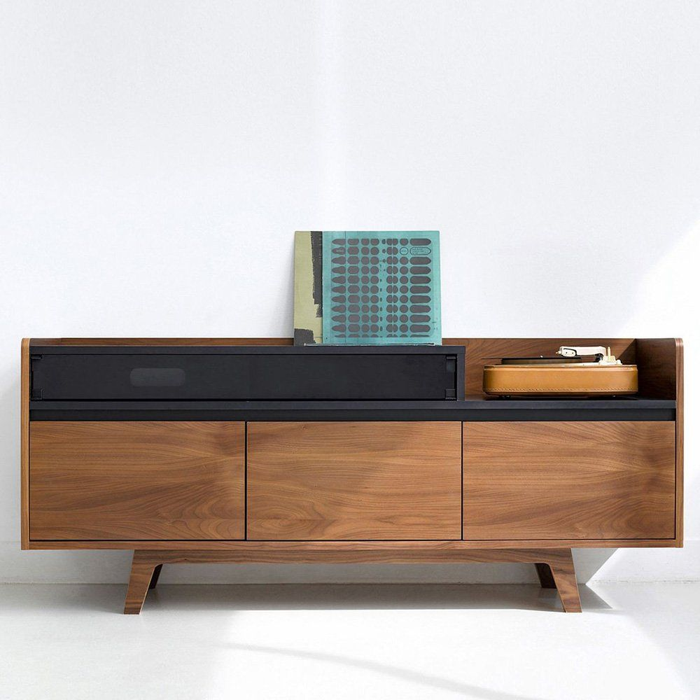 Buffet En Noyer Am Pm Meuble Hifi Meuble Hifi Design Mobilier De Salon