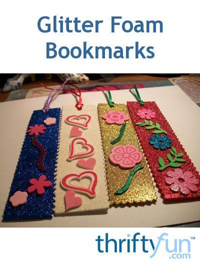 Glitter Foam Bookmarks