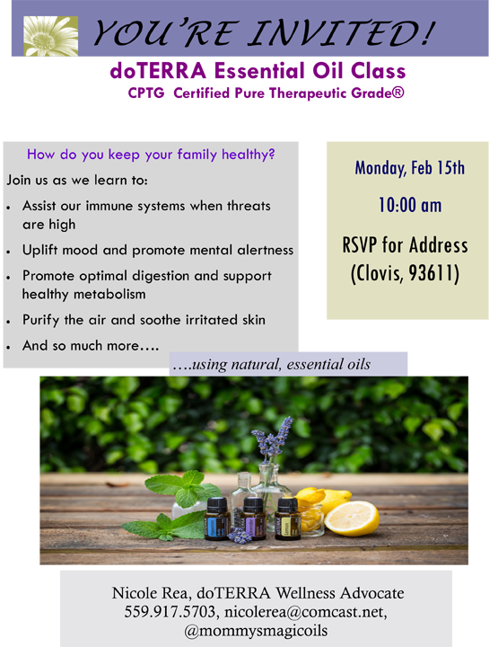 essential oils 101 class flyer doterra Thinkpawsitiveco