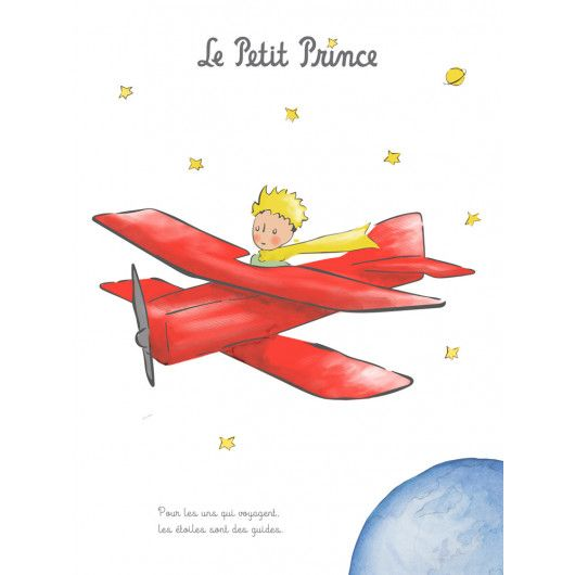 Art Print 40x50 Cm The Little Prince And The Plane On The Little Prince S Boutique Offici Le Petit Prince Tatouage Petit Prince Illustration Du Petit Prince