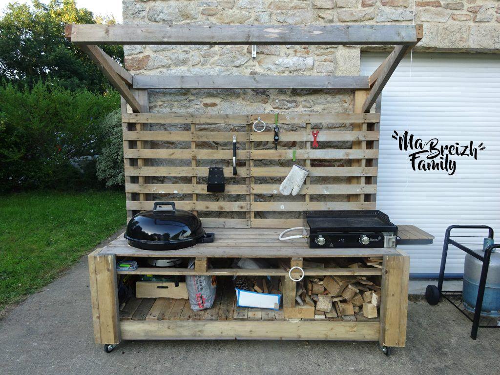 Barbecue Palette Cuisine Exterieur Espace Barbecue Exterieur Mobilier Exterieur En Palettes