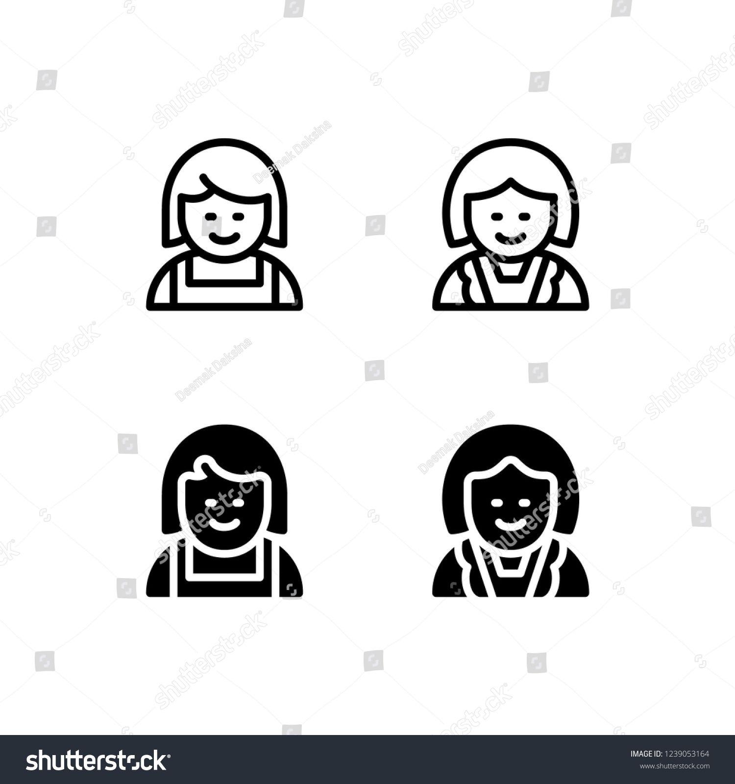 Maid Icon Design. maid, housekeeper, housewife