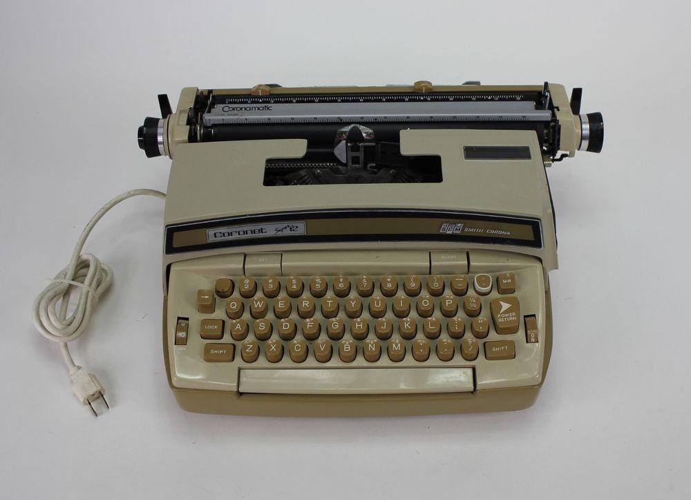 Smith Corona Coronet Super 12 Electric Typewriter Coronamatic